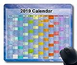 2019 Kalender-Mauspads, Silvester-Mauspad, Sternenhimmel-Galaxie Gaming-Mauspad