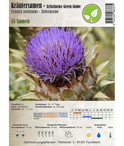 Galleria fotografica Semi di erbe - Carciofo Green Globe / Cynara scolymus L. 15 Semi