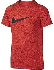 Nike B Nk Dry Tee Ss Camiseta de Manga Corta de Baloncesto, Niños, Naranja (Max Orange), M