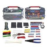 XuLiuMi Cacciavite elettrico Set di strumenti582PCper kit di strumenti di rete per elettricisti Set di strumenti per la casa infibra ottica, trasparente