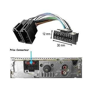 c ble connecteur adaptateur iso pour autoradio sony 16 broches high tech. Black Bedroom Furniture Sets. Home Design Ideas