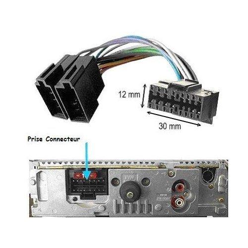 Cable adaptador ISO radio coche Sony 16 pines 12 x