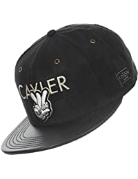 Cayler and Sons Checkers Snapback Cap Chapeau Black Suede Black Gold