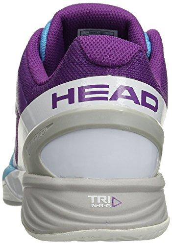 HEAD Nitro Pro Wo Aqvi, Tennis Femme Bleu (Bleu/Violet )