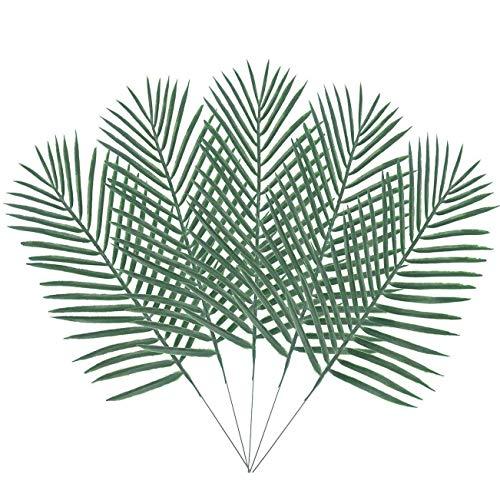 Warmter 100Künstliche Palme Faux Blätter grün Pflanzen Grün für Blumen Arrangement Hochzeit Dekoration