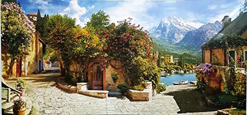 MI RINCON Cuadro Madera Vintage Paisaje Villa Italiana