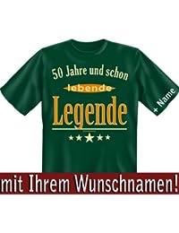 50 bis 59 Jahre Geburtstag - Lustige Witzige Bedruckte Sprüche Fun Tshirt! Jetzt mit Ihrem Wunschnamen Bedruckt! von Soreso®