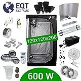 Pack Tente 600W Bat Cooltube Pro Box 120x120 - Black Box 2 + Grolux + Supacrop