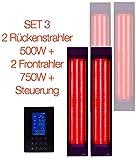 Set B-Ware Infrarotstrahler und Steuerung für 2 Sitzplätze zum Eigenbau einer Infrarotkabine oder umrüsten einer Wärmekabine, Vollspektrumstrahler, Tiefenwärmestrahler