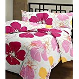 PICKFULLY Single Bed Comforter/Dohar / Blanket Pink Flowers, Fabric - Micro Cotton, Size -54 x 84 inches, Color Fastness Guarantee