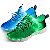Shinmax Fiber Optical Schuhe 4 Mods USB Wiederaufladbare Leuchten Super...