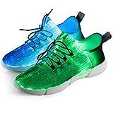 Fiber Optical Schuhe,LED Schuhe 7 Farben 4 Mods USB Wiederaufladbare...