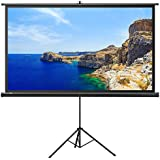 Projector Screen With Stand, TaoTronics Indoor And Outdoor Movie Screen 100 Inch Diagonal 16:9 With Premium Wrinkle Free Design (Easy To Clean, 1.1 Gain, 160 Viewing Angle And Includes A Carry Bag)
