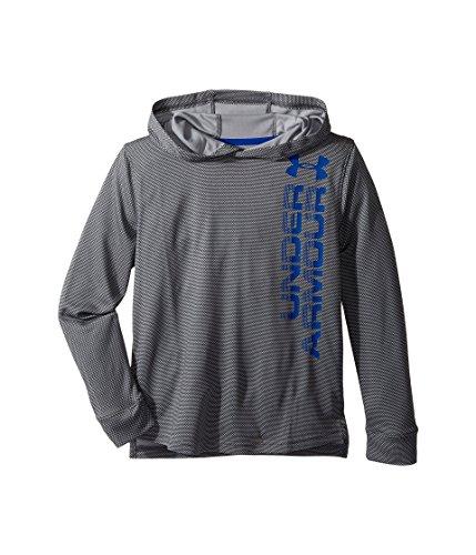 Under Armour Jungen Textured Tech Hoody Langarmshirt, Graphite, M