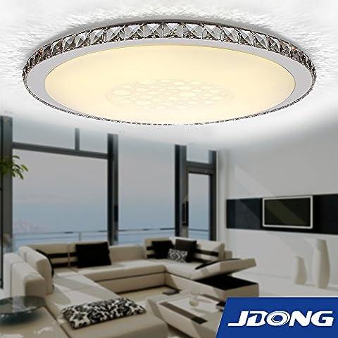 JDONG Moderne LED Plafond Décoration de Cristal de Verre de la Lampe de Plafond de Lumière 30W Transmittance élevée de la Lumière de Trois Couleurs de la Lumière (Nsemble de Commutateur Mural)