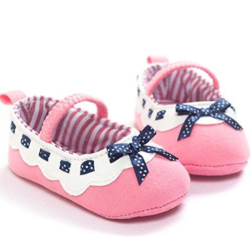 Saingace®Chaussures bébé fille bowknot espadrille anti-dérapant bébé semelle souple,0-18mois (13, Gray) Rose