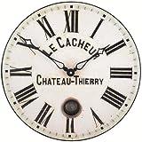 Roger Lascelles Wanduhr mit Zifferblatt französischer Uhrmacher