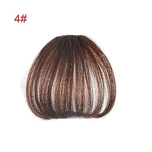 Alexsix Ein Stück Clip in Haar Pony Fringe Extensions Kunstfaser Haarteil für Frauen ()