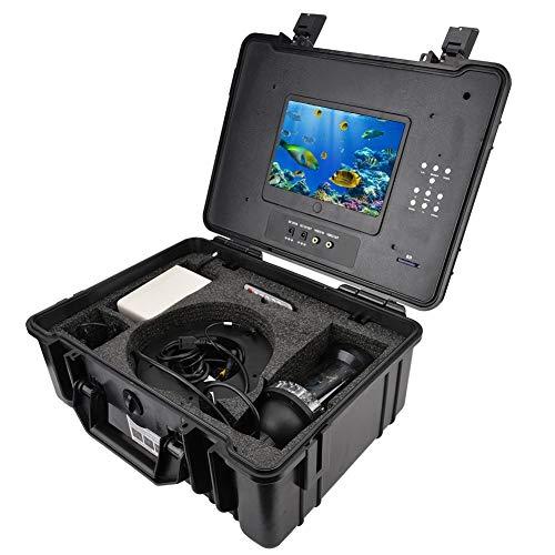 Tosuny Drone sous-Marin, caméra de pêche sous-Marine à écran Couleur de 7 Pouces avec caméra Haute définition 200 mm x 90 mm, caméra de pêche HD CCD 1000TVL Lines, caméra vidéo DVR sous-Marine(EU)