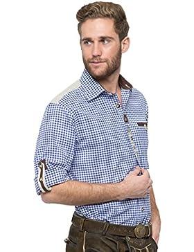 OS-Trachten Herren Trachtenhemd Colin dunkelblau H040077
