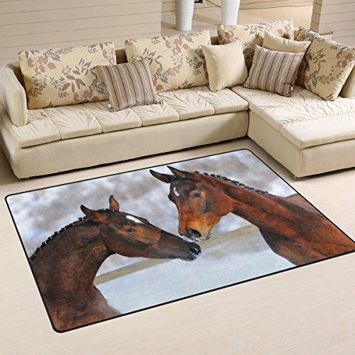 ingbags Super Weich Modern Love Pferd, ein Wohnzimmer Teppiche Teppich Schlafzimmer Teppich für Kinder Play massiv Home Decorator Boden Teppich und Teppiche 152,4x 99,1cm