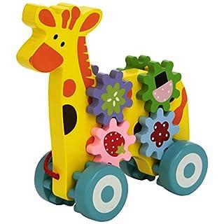 Andreu Toys 19x 7,5x 16,2cm Pull entlang Giraffe Spielzeug (Mehrfarbig)