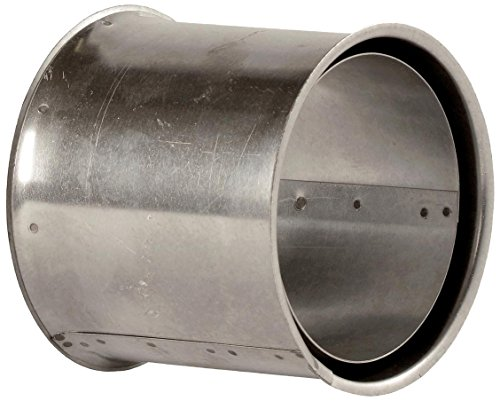 Bertrams 032610 032610 Wandfutter doppelt für FAL Ofenrohre & Bögen - Stahlblech feueraluminiert, Silber, Ø120mm -