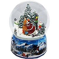 20010d Mega–Bola de nieve romántica Camino de hielo con parte Reloj Winter Wonderland …