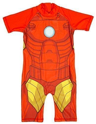 rs IRONMAN alles in eins Sonnenschutz Badeanzug Surf Anzug Kostüm größen von 1.5 to 5 Years - Rot, 2-3 Years (Iron Man Jungen Kostüm)