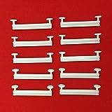 Easy-Shadow - 20 Stück Schlaufengleiter für 40 mm 40mm Schlaufen ohne Schlitz - Gleiter 4 cm 4cm Innenlauf für Schlaufenschals / Schlaufenvorhang passend für Gardinenschienen Gardinenstange Vorhangschienen Gardinenbretter Gardinen Laufschienen Deckenleiste - weiß