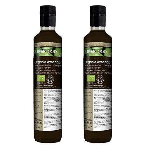 Bio Avocadoöl, nativ – Speiseöl 1 Liter (2 x 500ml) kaltgerpesst