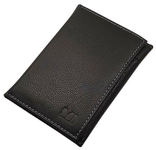 MJ-Design-Germany Ausweisetui Kreditkartenetui Büffelleder in 3 Farben (Schwarz) (Brieftasche)