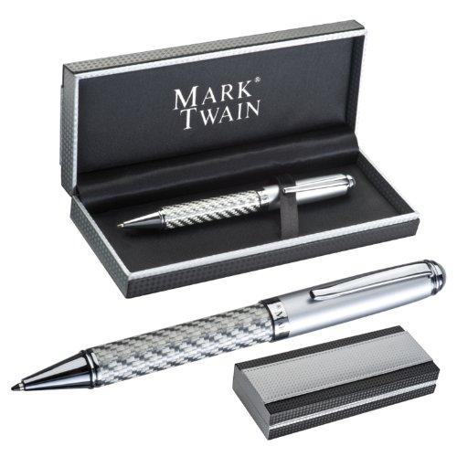 Mark Twain elegante penna sfera Columbia Carbon desig Refil blu