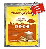 #8: NutroActive BrownXatta High Protein & Low Carb Keto Friendly Flour - 9 Kg (Family Pack)