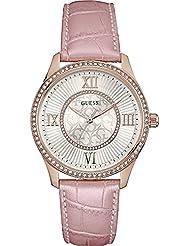 Guess Damen-Armbanduhr Analog Quarz Leder W0768L3