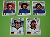 Panini WM 1982 - 5 Update Sticker Team Deutschland + Italien