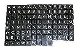 Generic Kunststoff Scrabble Fliesen Buchstaben Schwarz Kunststoff & Weiß Buchstabe–100von Spiel Stück Art & Craft Vintage