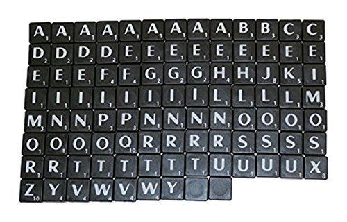 Nuovo scrabble plastica piastrelle lettere plastica nera & lettera