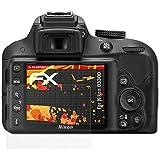 3 x atFoliX Protector Película Nikon D3300 Lámina Protectora - FX-Antireflex-HD Antirreflejo para pantallas de alta resolución