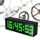 LambTown Relojes de Escritorio LED con el Calendario Termómetro Cuenta Atrás Luz de la Noche - Verde