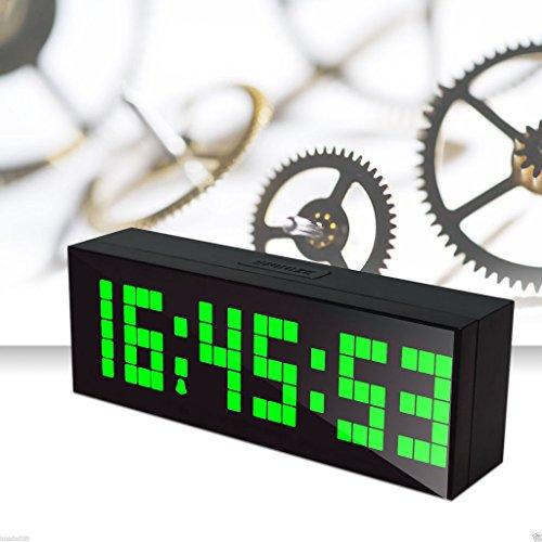 LambTown Multifunktions LED Elektrische Wecker mit Kalender Temperatur Countdown Nachtlicht Grün (Rot-licht-digital-wand-uhr)