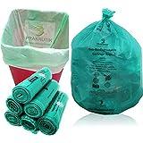PRAKRUTIK Garbage Bags Biodegradable For Kitchen,Office,Large Size (60cmx81cm)/(24 Inchx32 Inch),(90 Bag).(Green)