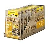GimDog Superfood Meat Balls Hühnchen mit Banane und Sesam – Hundesnack mit hohem Fleischanteil und Mono-Protein – ohne Zuckerzusatz – 8 Beutel (8 x 70 g)