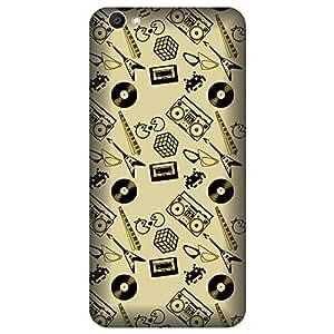 Skintice Designer Back Cover with direct 3D sublimation printing for Vivo V5