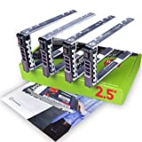 WorkDone 4er Pack - 2,5-Zoll Hard Drive Caddy Tray Festplattenrahmen für Dell PowerEdge Server - T440 T640 R330 R430 T430 R630 T630 R730 R830 R930 R320 R420 und mehr - Hot-Swap Tray