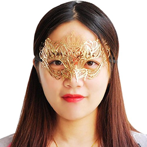 Xmansky Metall Venezianischen Hohl Maskerade Halloween Maske (F, (Kostüme Up Halloween Auf Basierend Make)