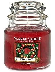 Yankee Candle 1120698 Bougie senteur Red Apple Wreath en jarre Rouge