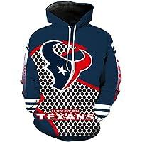 7e1f3809134576 Herren Hooded Long Sleeve 3D Digitaldruck Houston Texans Fußball Team Pullover  Hoodies Kapuzenpullis
