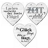 Hänger Herz 3er-Set