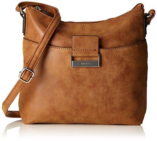 GERRY WEBER Be Different Shoulder Bag M, Borsa a spalla donna Marrone (Cognac)
